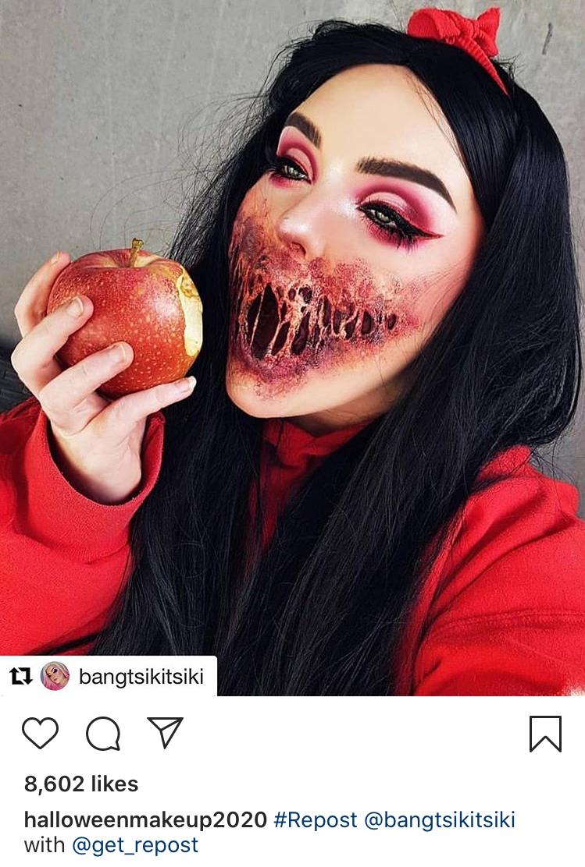 Image on the @halloweenmakeup2020 Instagram account