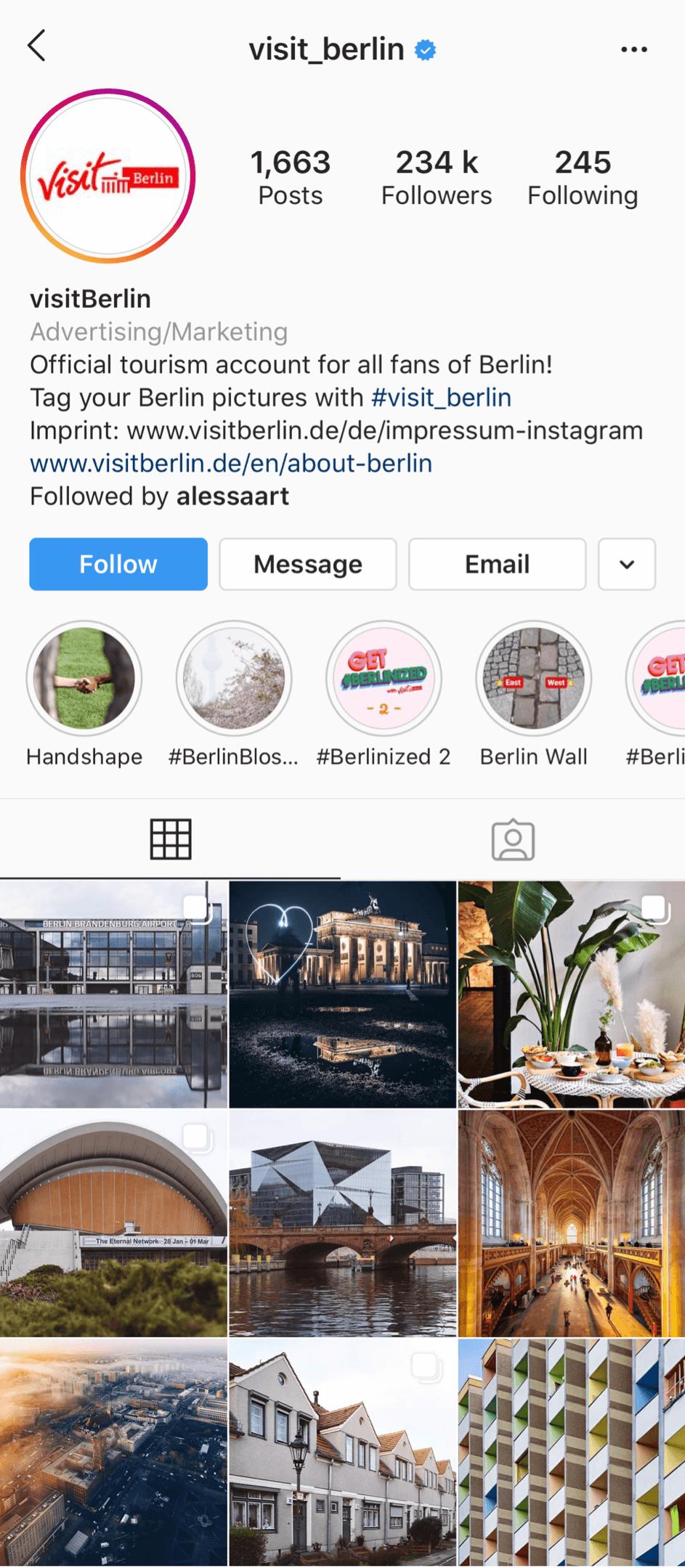 @visit_berlin verified Instagram account