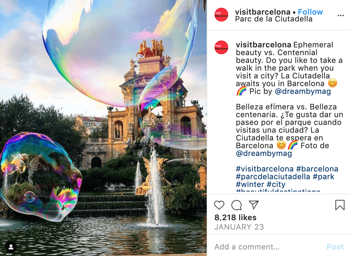 Post by @visitbarcelona using content curation