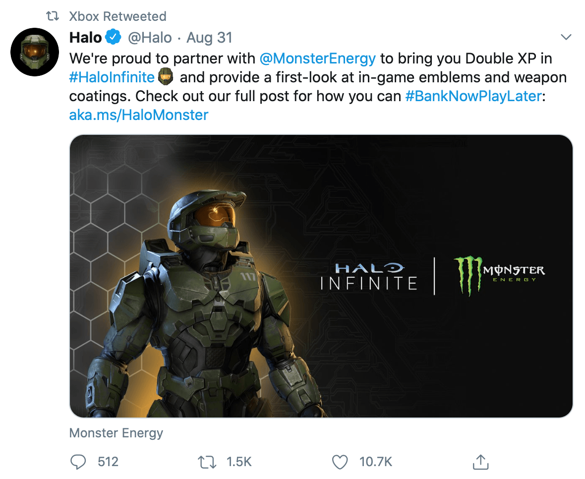 @Xbox retweeted industry partnership news from @Halo