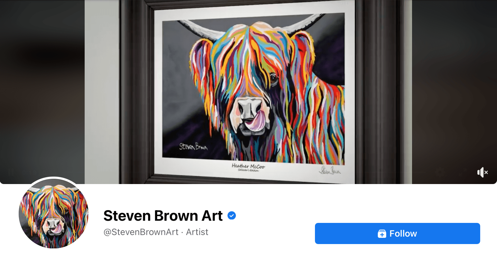 Cover video on the Steven Brown Art Facebook page