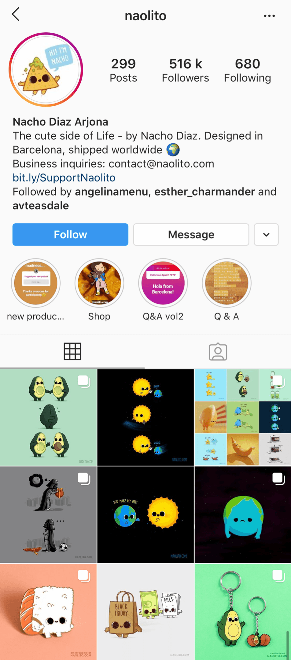 @naolito Instagram profile