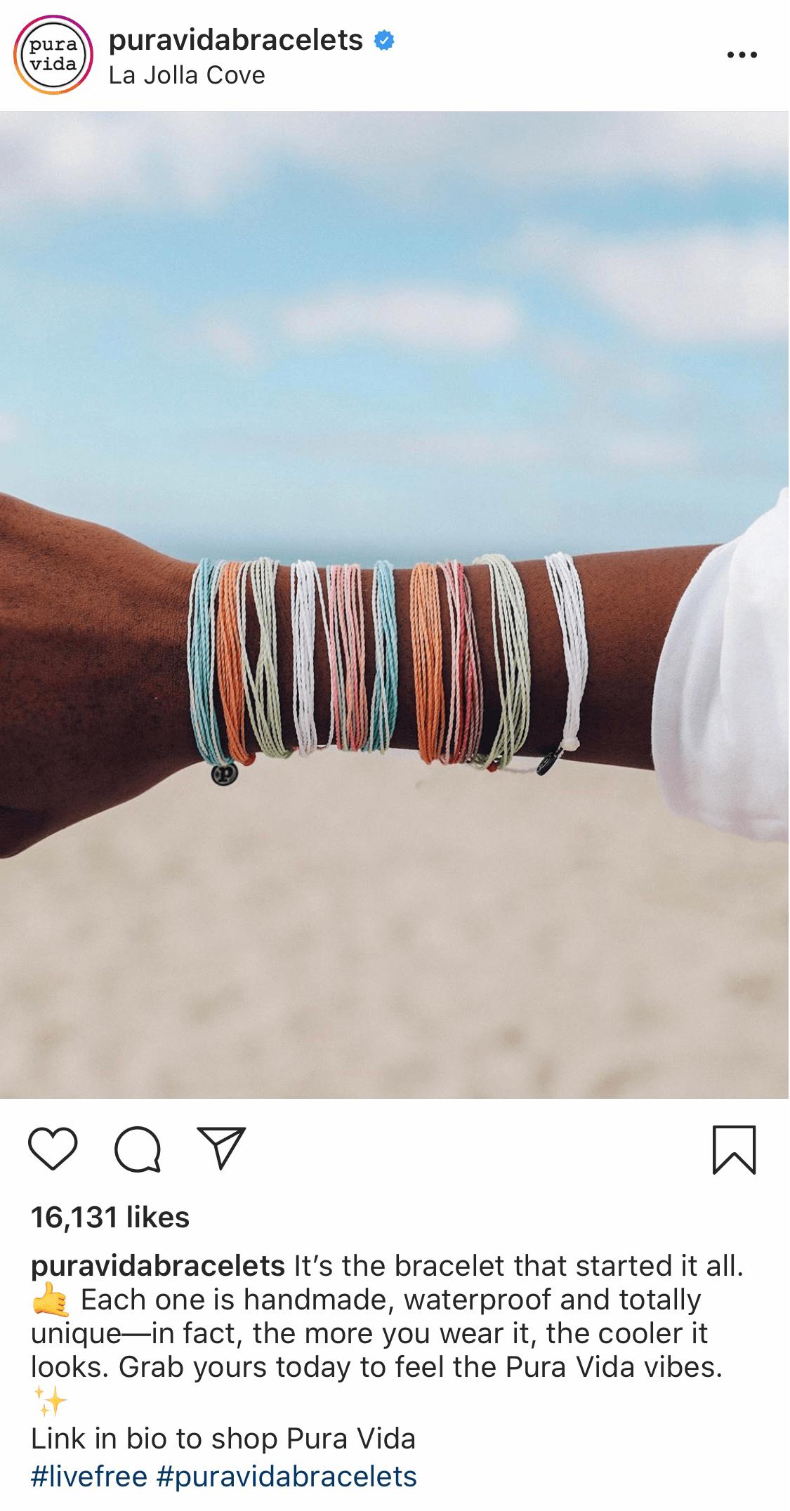Instagram post by @puravidabracelets