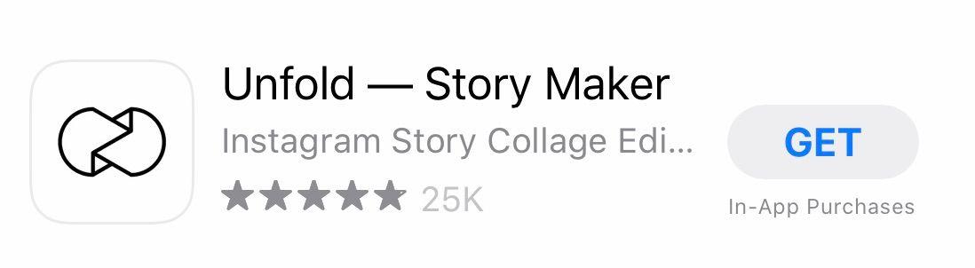 Instagram stories design app Unfold
