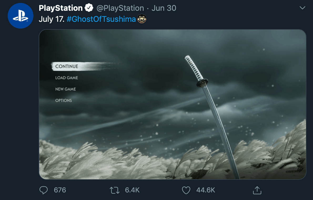 Release teaser by @PlayStation