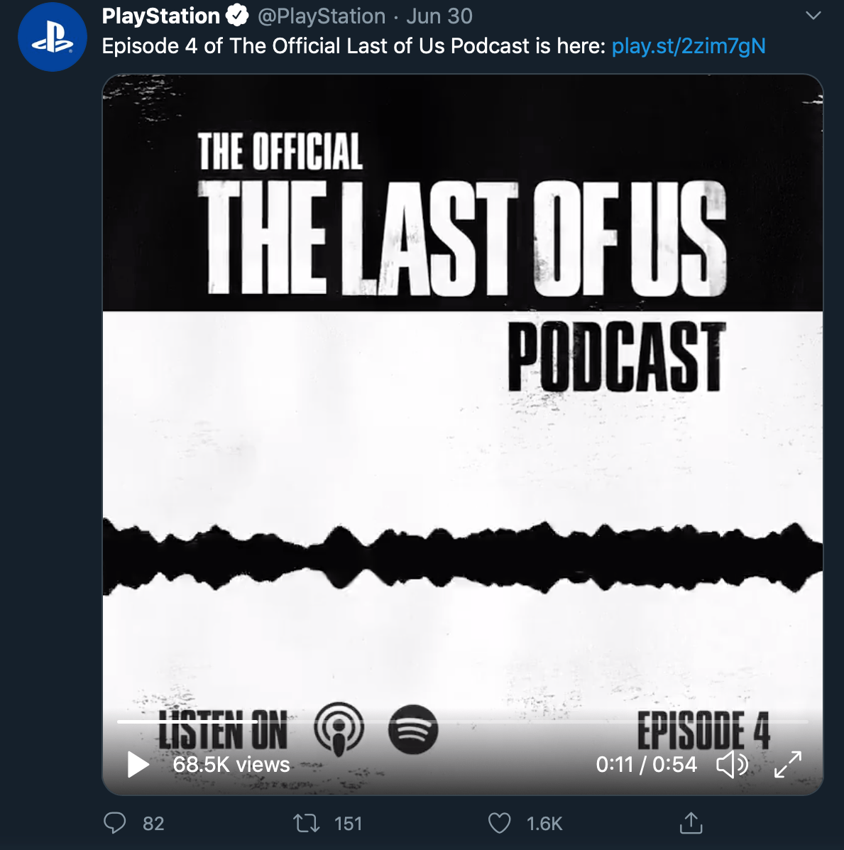 Audio podcast teaser by @PlayStation