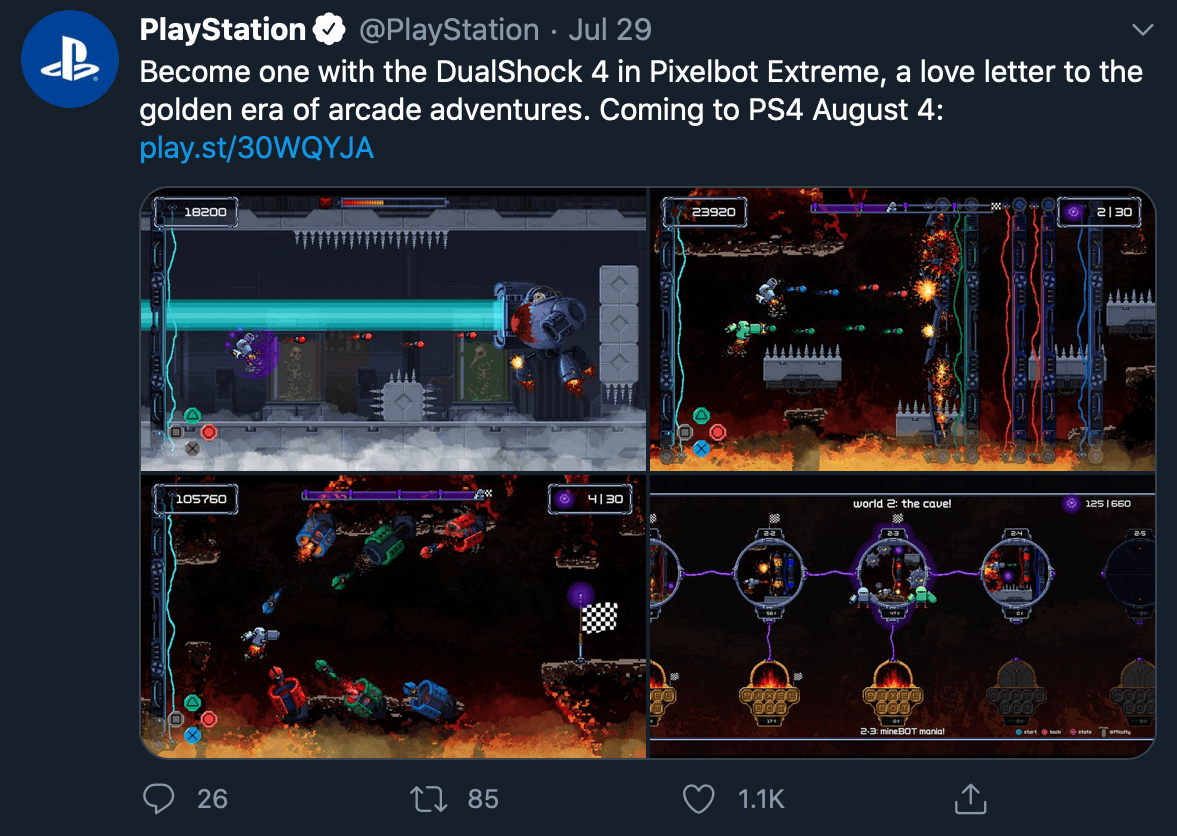 Website link in tweet by @PlayStation