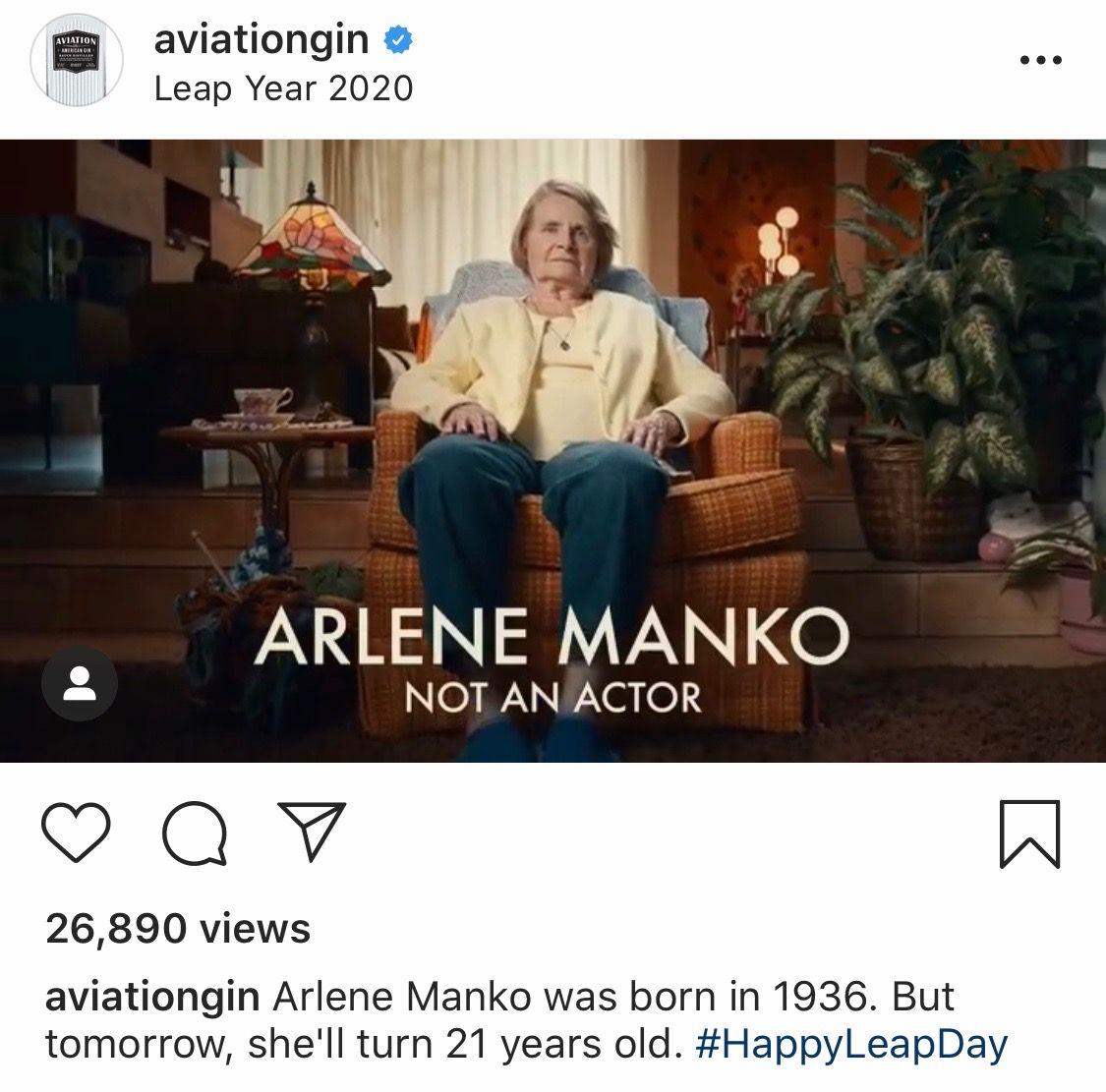 Still image taken from an @aviationgin Instagram post