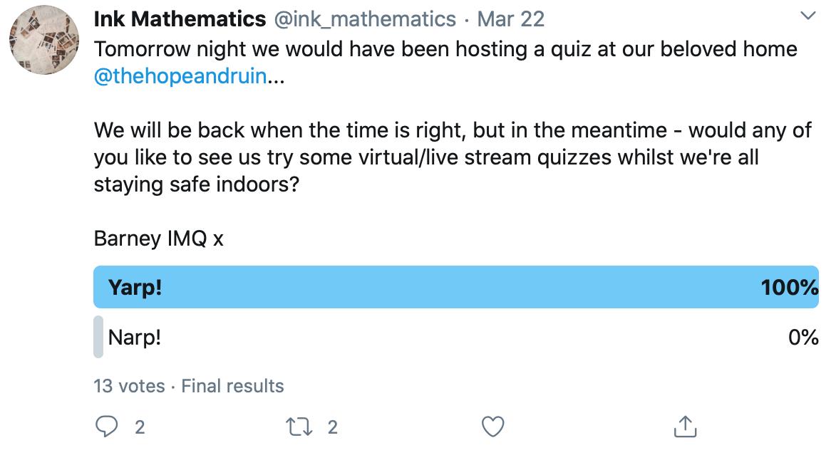 Twitter poll by @ink_mathematics
