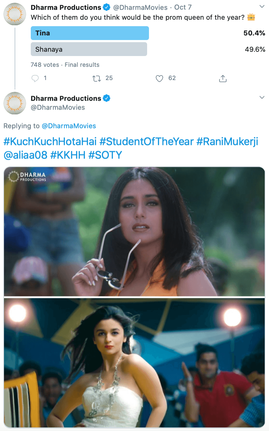 Twitter poll by @DharmaMovies