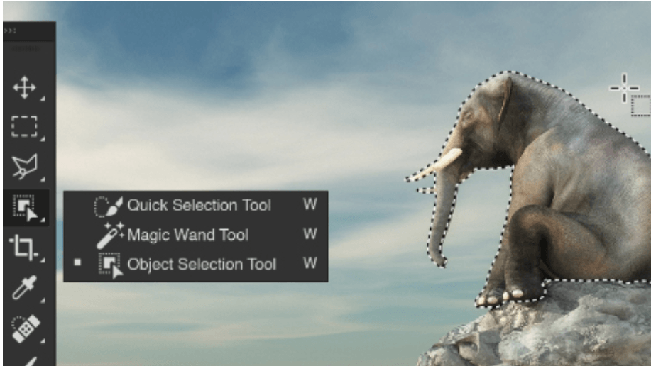Object Selection Tool in the 2020 update of Photoshop