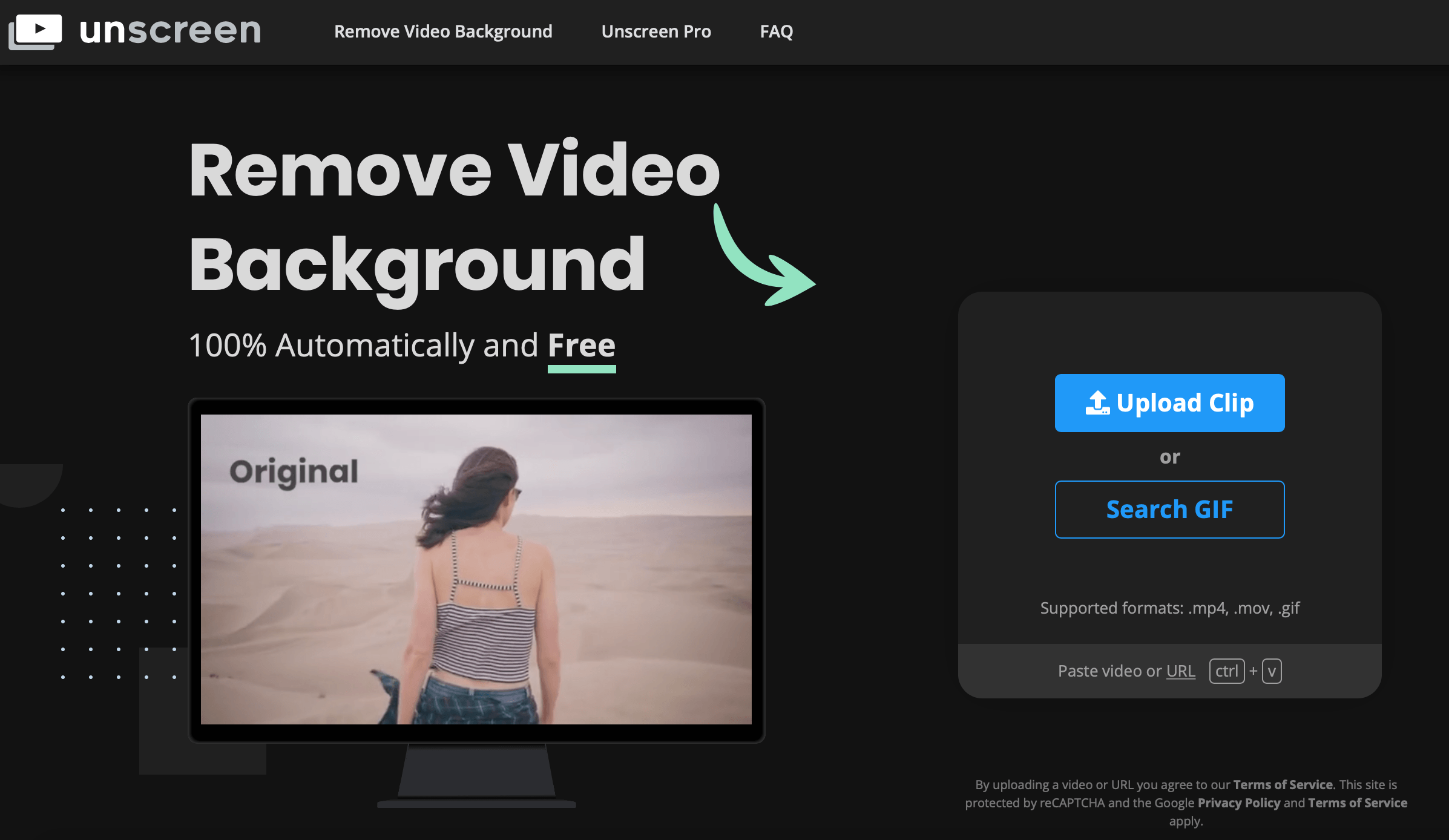 Remove the background of a GIF to turn it into a sticker with a tool such as unscreen