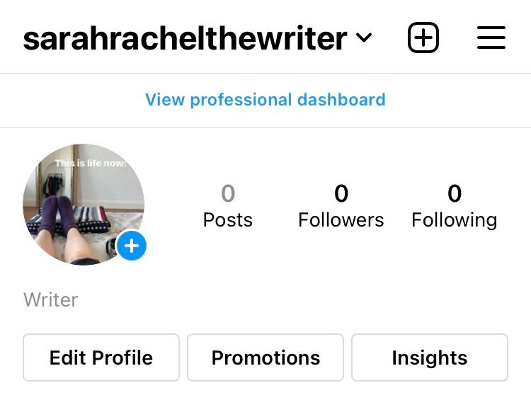 Tap 'Edit Profile' from your Instagram profile page