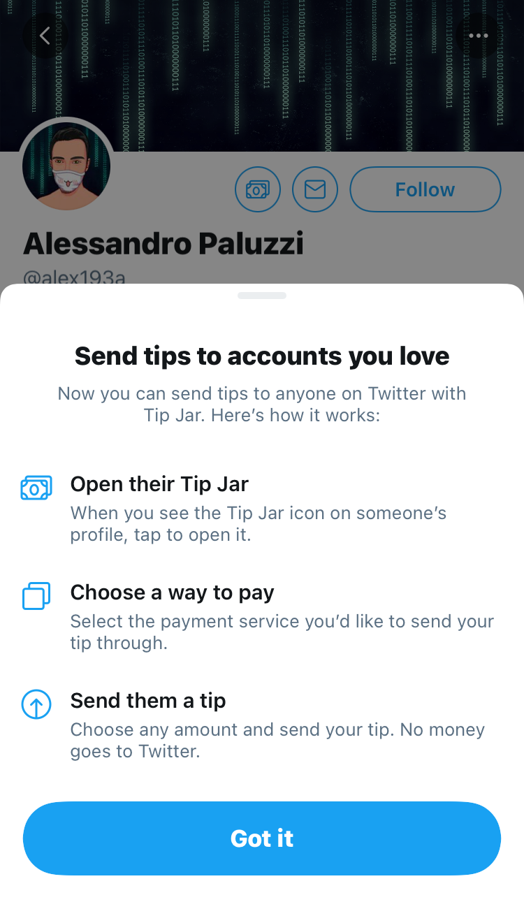 how to use the tip jar on Twitter