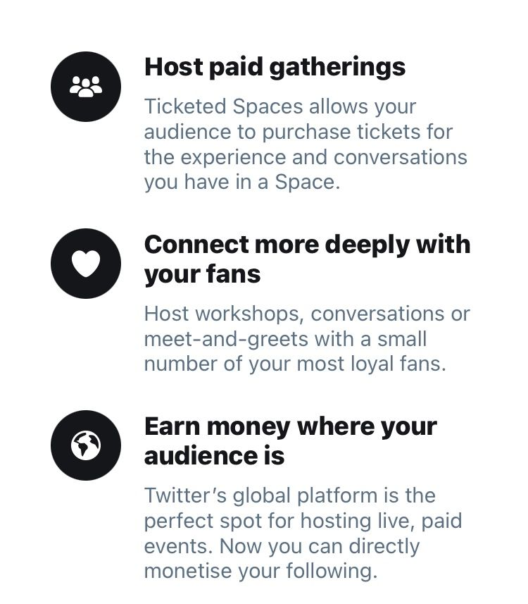 Benefits to hosting Twitter's new monetisation feature ticketed spaces