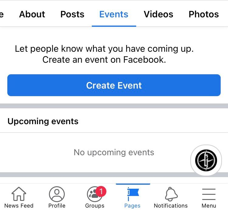 Select the 'Events' tab followed by 'Create Event' on your Facebook page to start creating an event