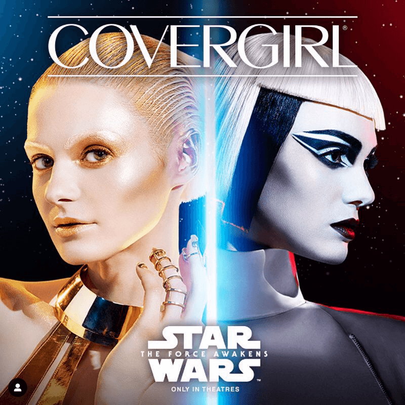 @covergirl brand collaboration with @lucasfilm on Instagram