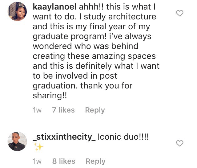 Comments section of the Instagram post by @glossier