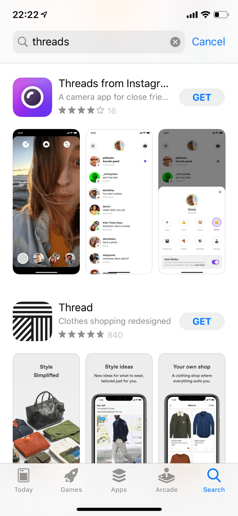 Download the threads app for Instagram
