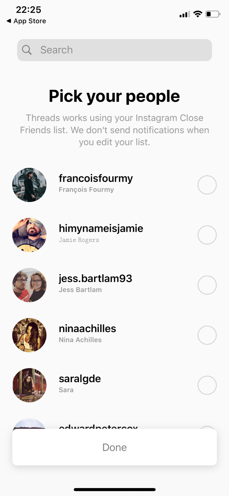 Pick close friends to interact with on the Instagram Threads app